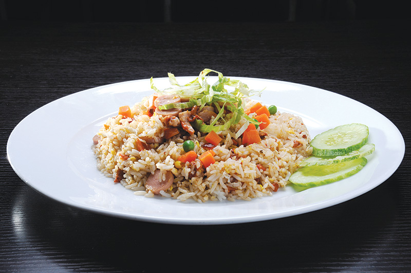 Mixed Bean Sausage Fried Rice